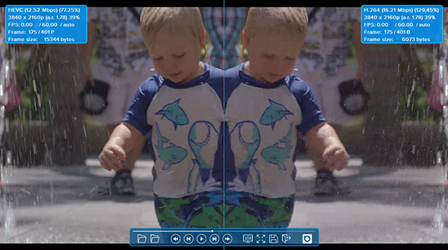 VCT butterfly comparison mode for subjective video quality assessment