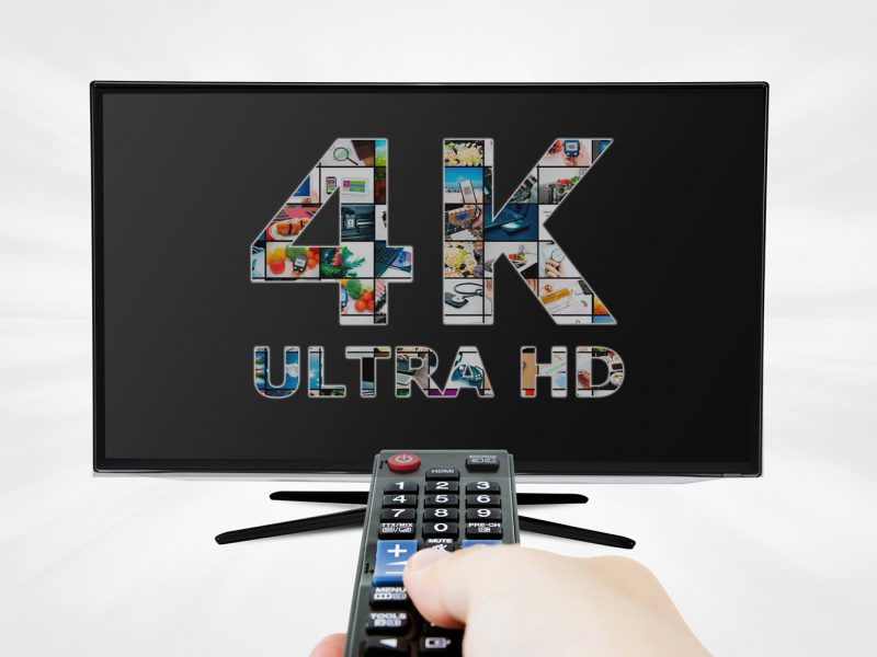 TV ultra HD. 4K television resolution technology